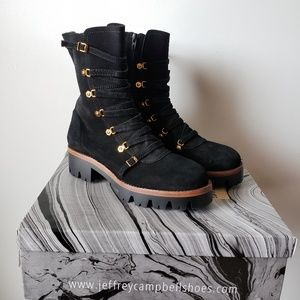 New in box Jeffrey Campbell Combat Suede Boots 8.5